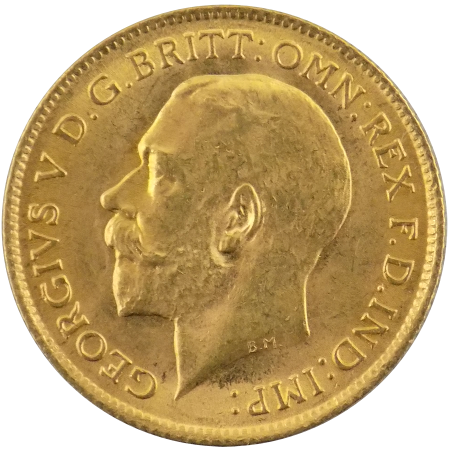 Pre-Owned 1913 UK George V Half Sovereign Gold Coin