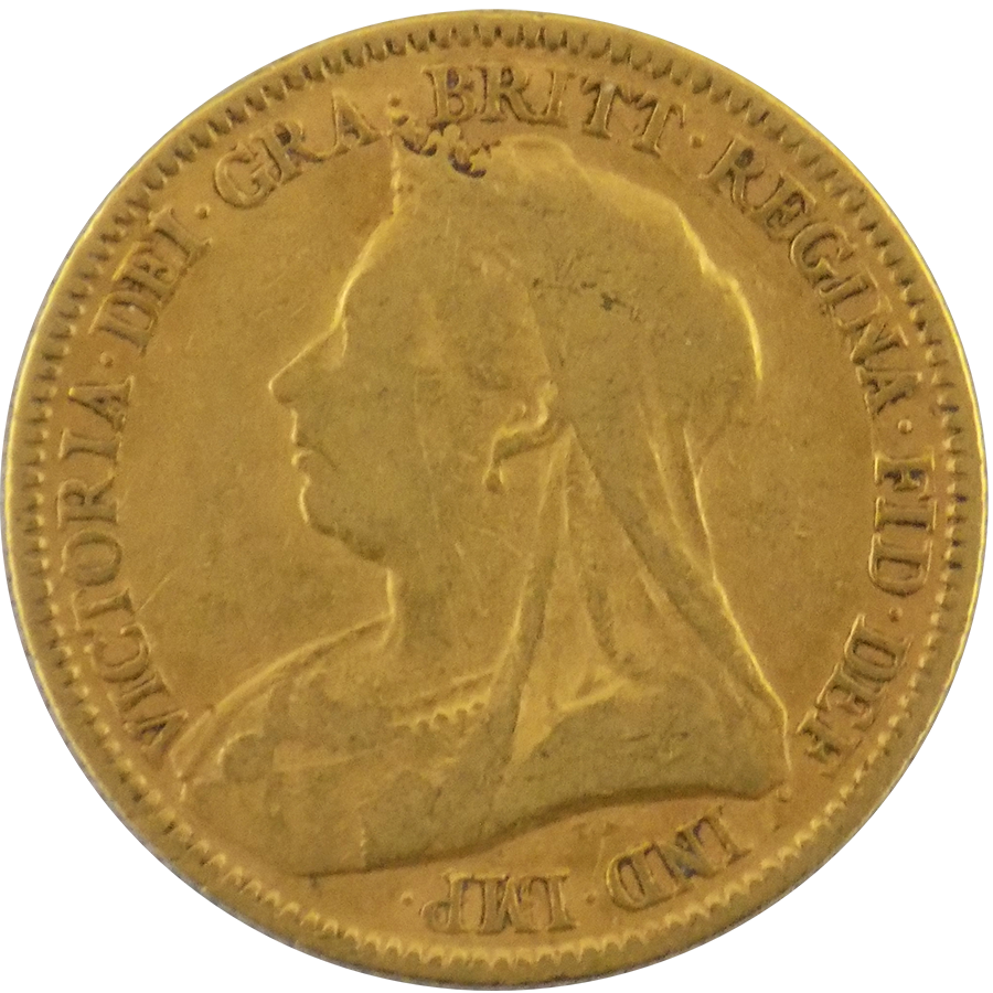 Pre-Owned 1894 UK Victoria Half Sovereign Gold Coin