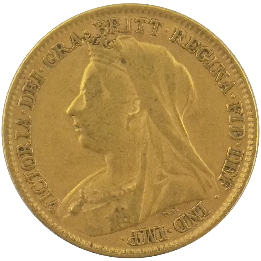 Pre-Owned 1895 UK Victoria Half Sovereign Gold Coin