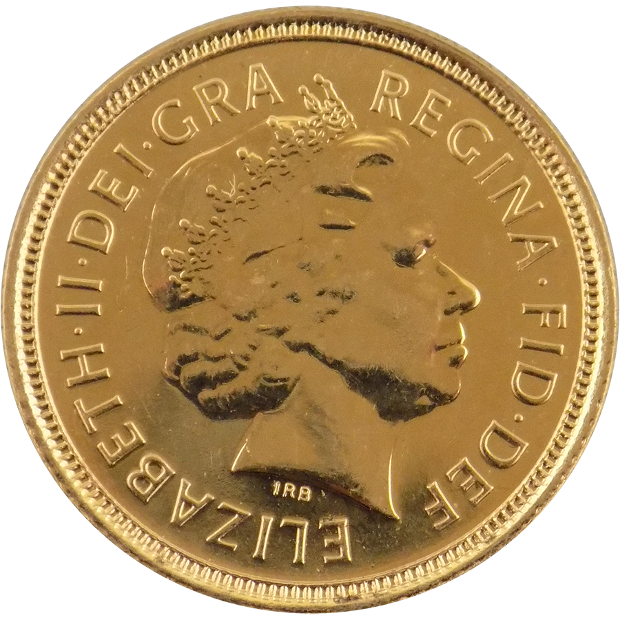 Pre-Owned 2004 UK QEII Half Sovereign Gold Coin