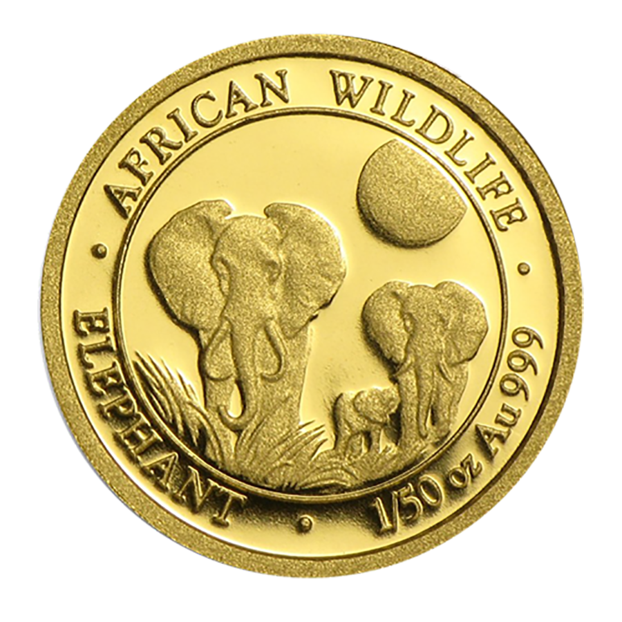 Pre-Owned 2014 Somalia Elephant 1/50oz Gold Coin
