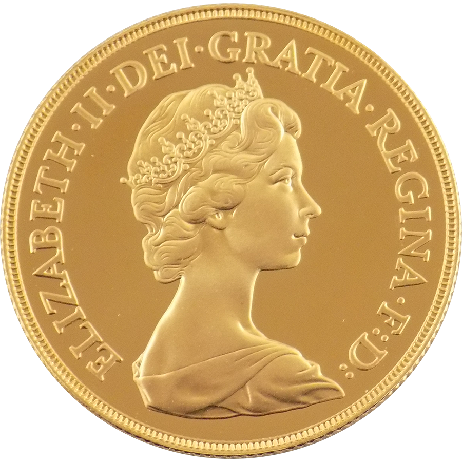 Pre-Owned 1983 UK Elizabeth II Double Sovereign Gold Coin