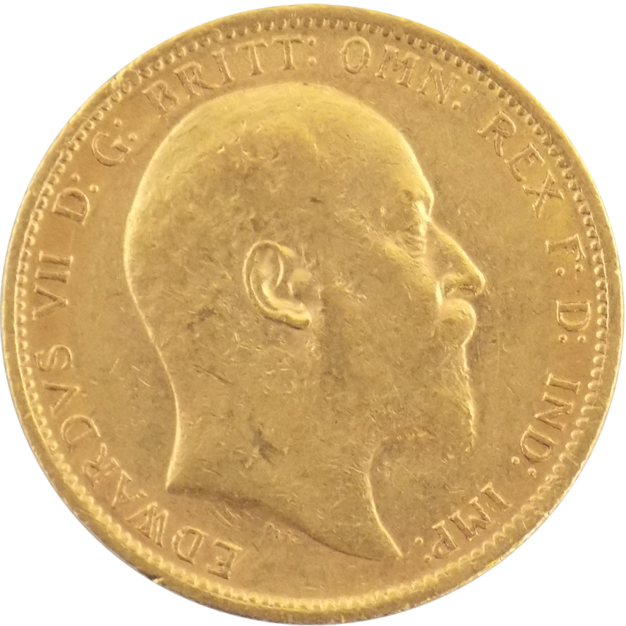 Pre-Owned 1906 Sydney Mint Edward VII Full Sovereign Gold Coin