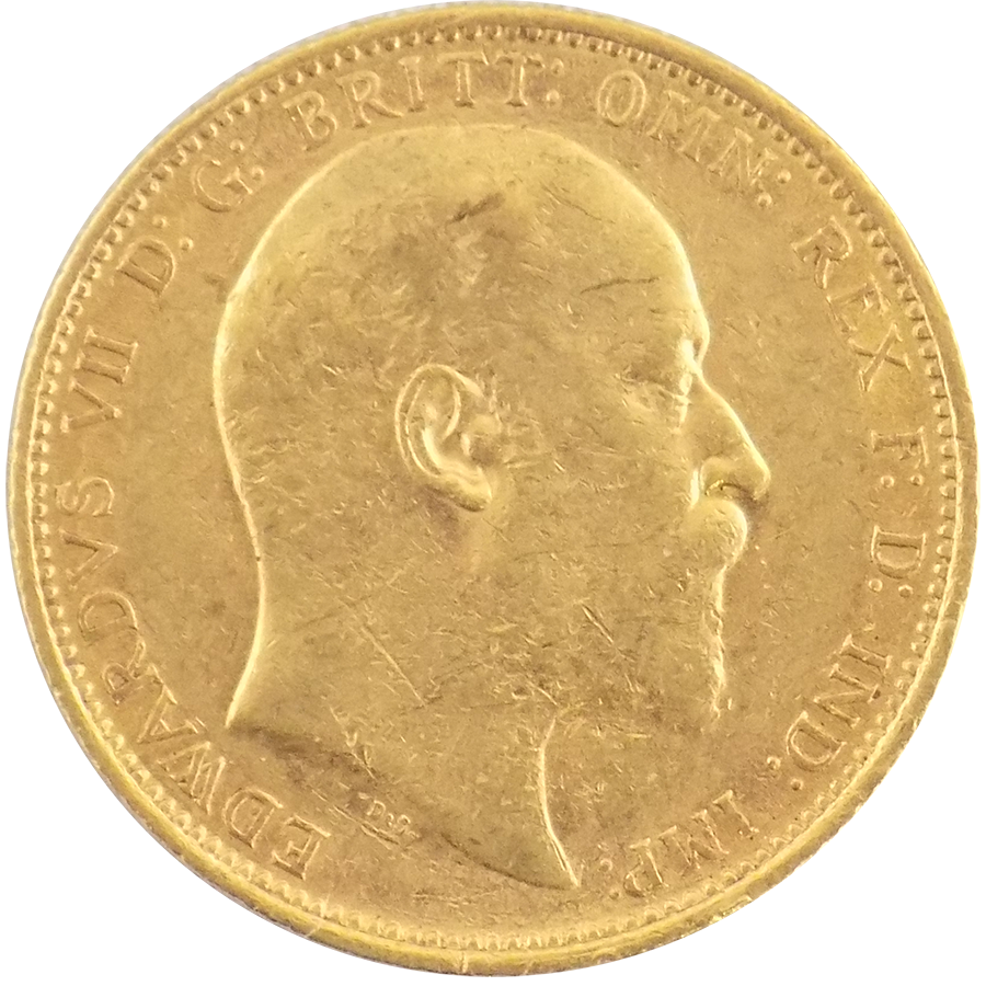 Pre-Owned 1902 Sydney Mint Edward VII Full Sovereign Gold Coin