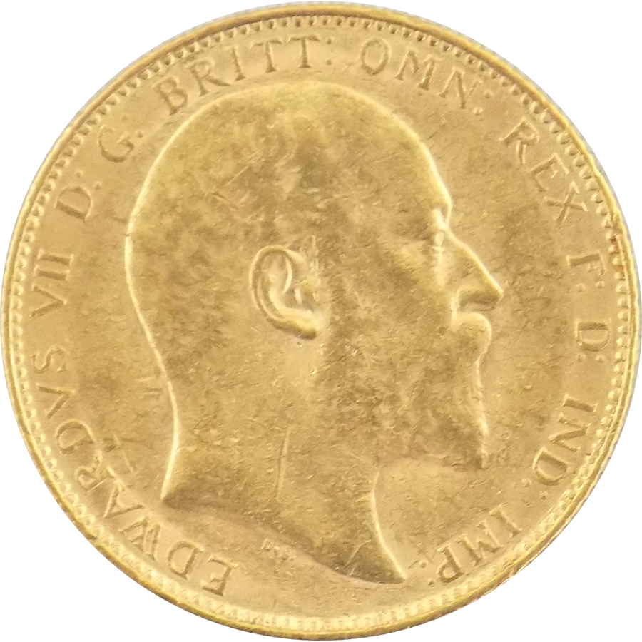 Pre-Owned 1904 Perth Mint Edward VII Full Sovereign Gold Coin