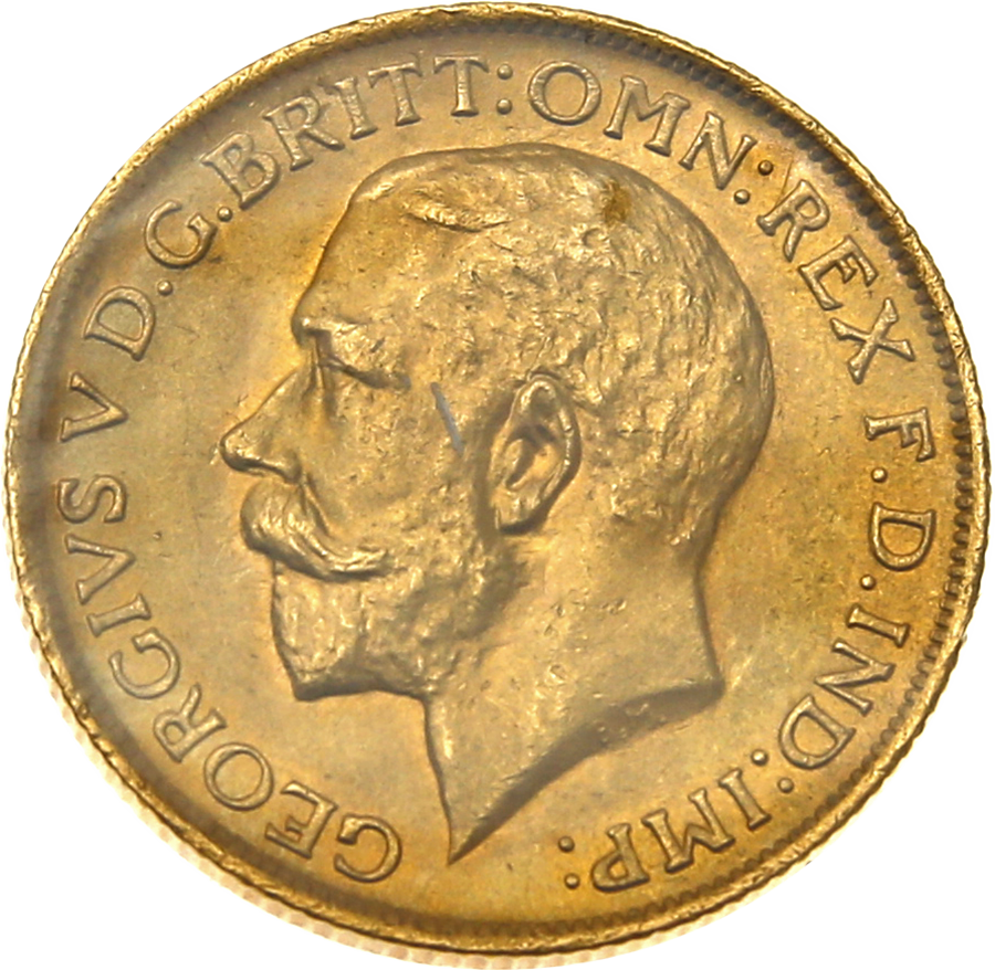 Pre-Owned 1917 Sydney Mint George V Full Sovereign Gold Coin