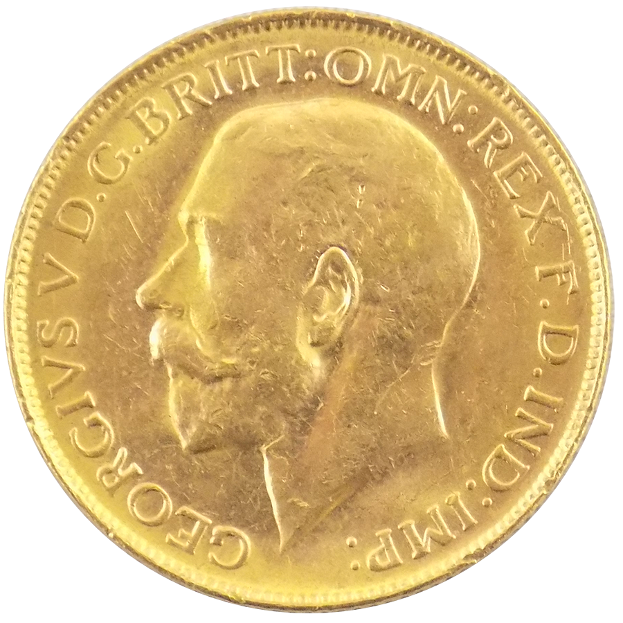 Pre-Owned 1918 Perth Mint George V Full Sovereign Gold Coin
