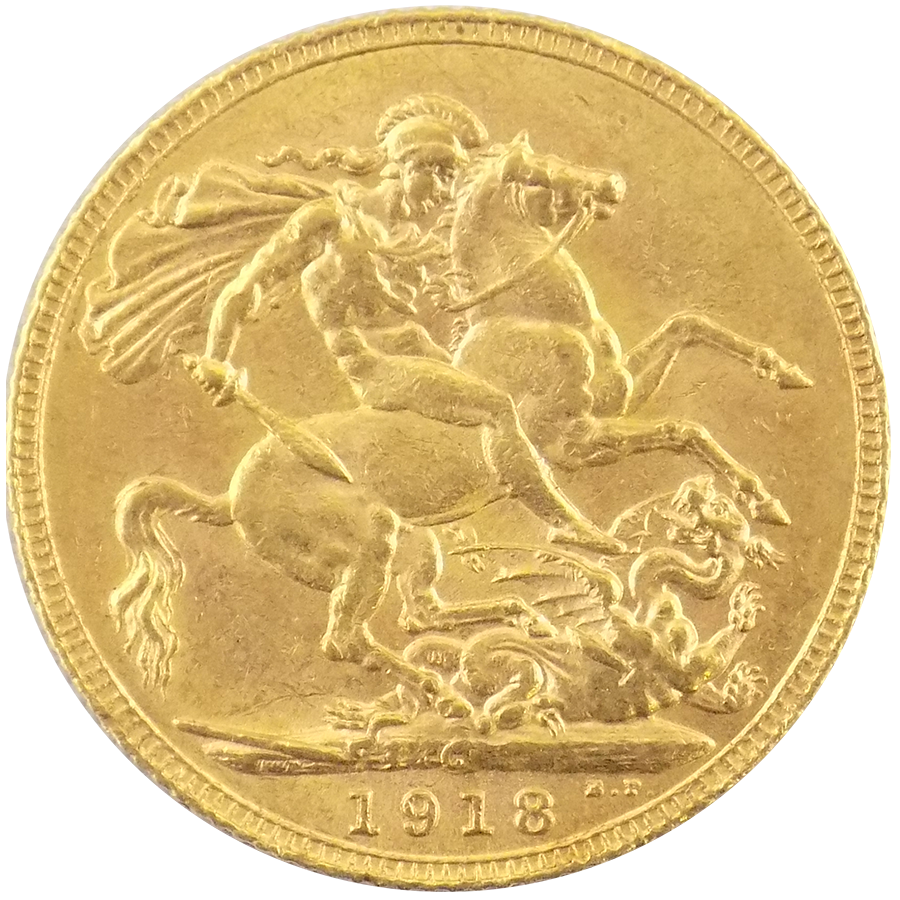 Pre Owned 1918 Canada Mint Full Gold Sovereign Atkinsons