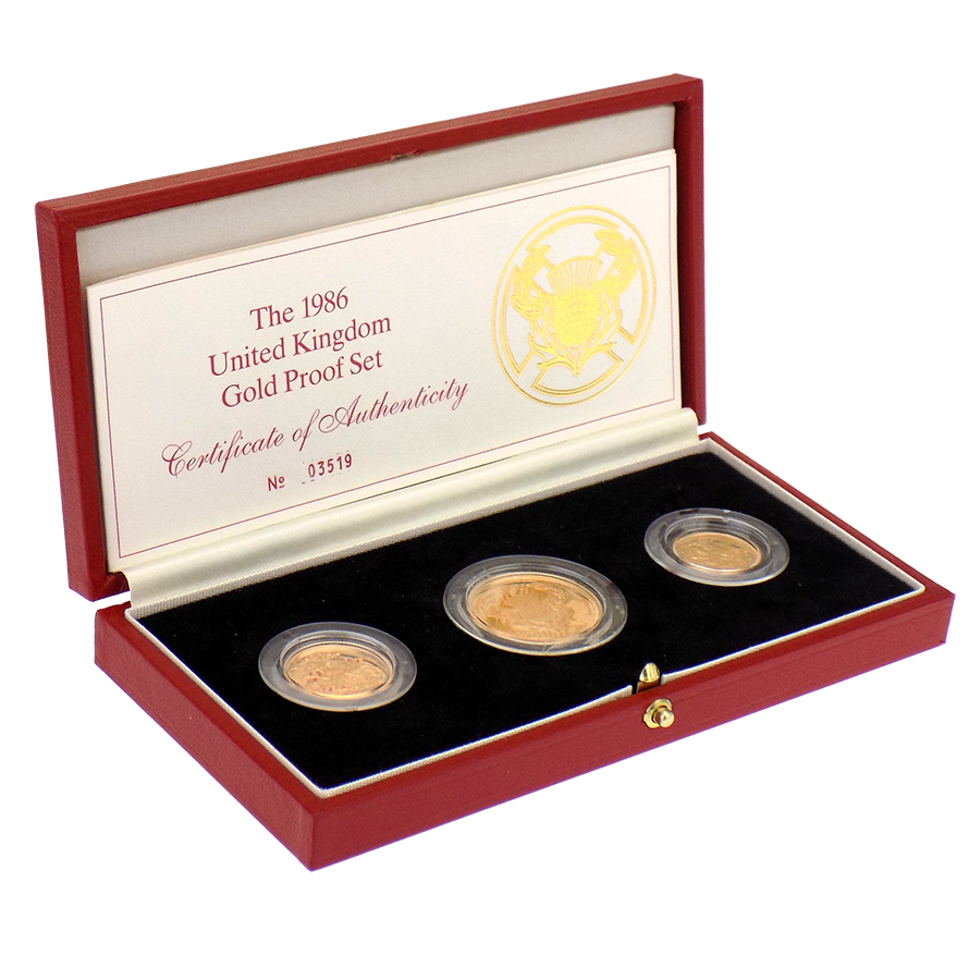 Pre-Owned 1986 United Kingdom Gold Proof Coin Set