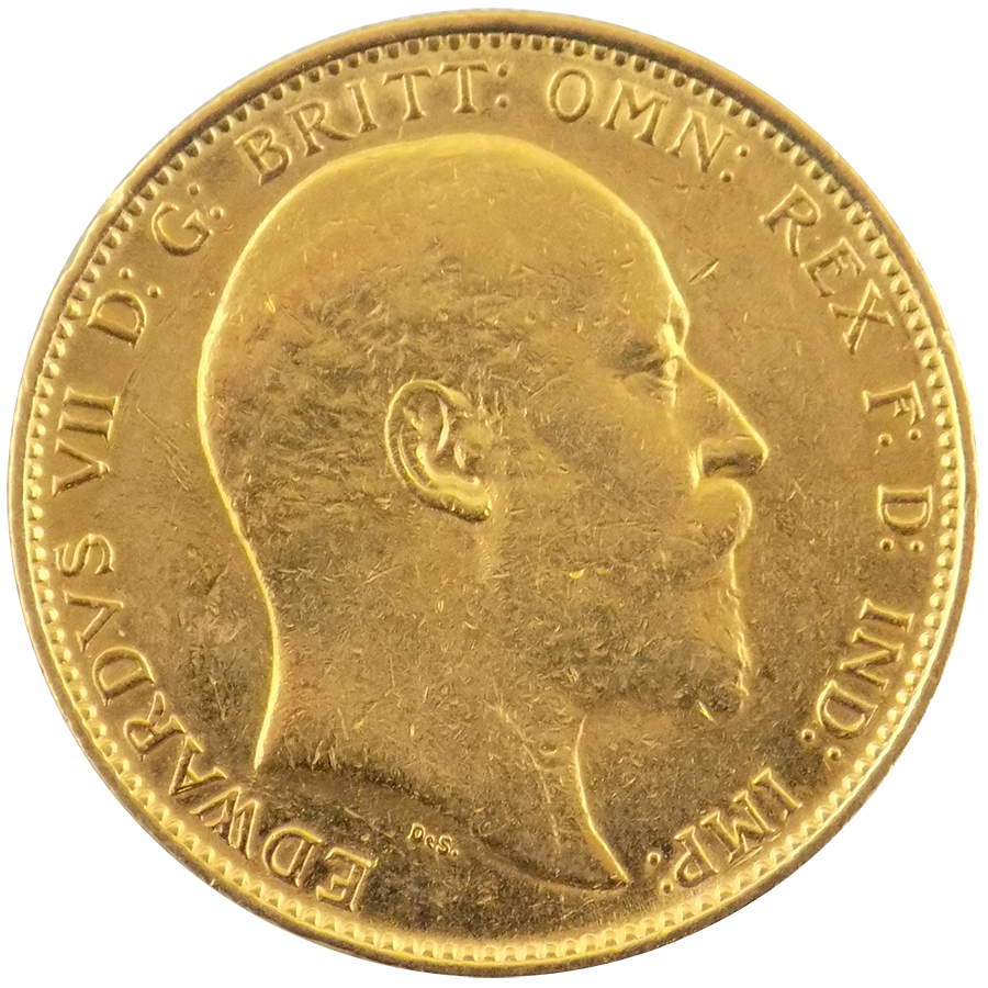 Pre-Owned 1903 Melbourne Mint Edward VII Full Sovereign Gold Coin