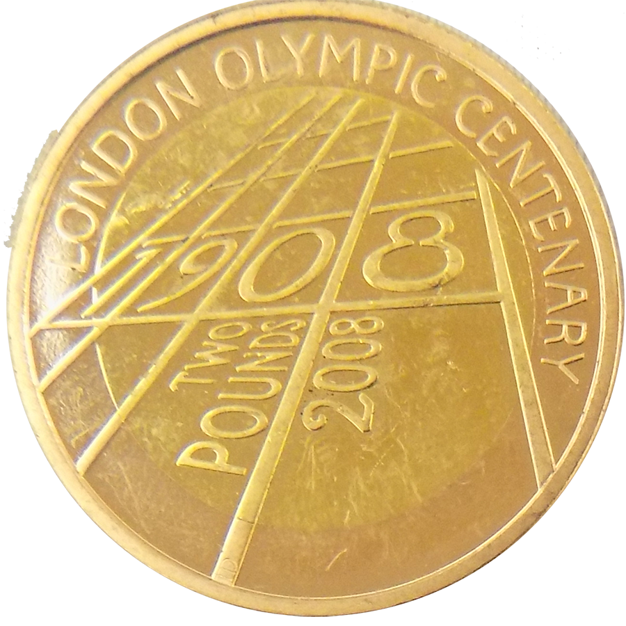 Pre-Owned 2008 London Olympic Centenary £2 Gold Coin