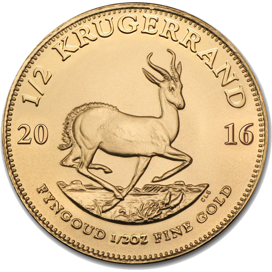 2016 South African Krugerrand 1/2oz Gold Coin