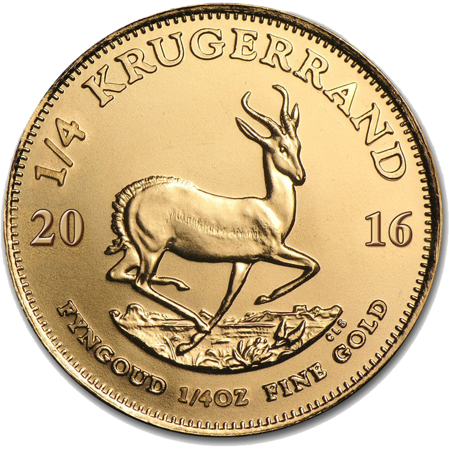 2016 South African Krugerrand 1/4oz Gold Coin