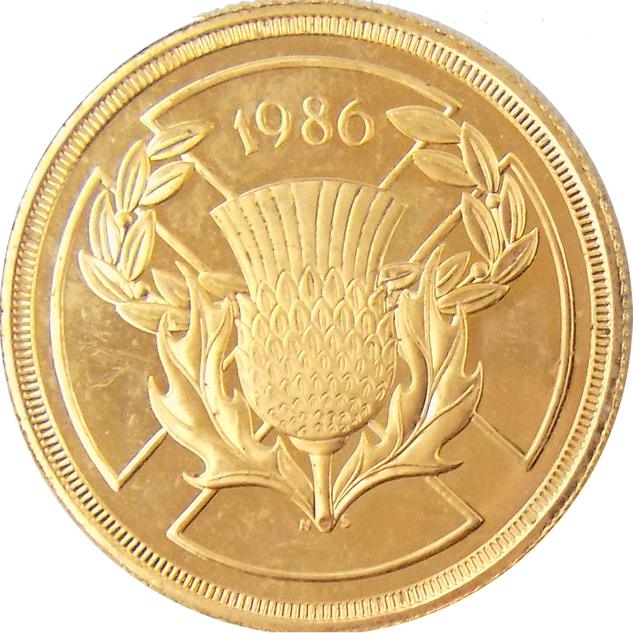 Pre-Owned 1986 Commonwealth Games £2 Gold Coin