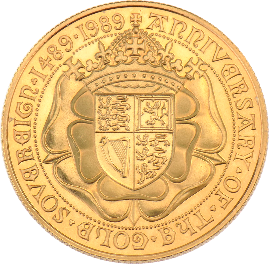Pre-Owned 1989 UK Double Sovereign Gold Coin