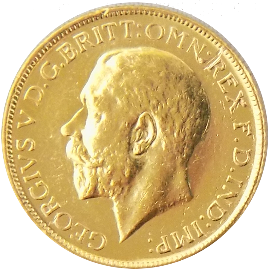 Pre-Owned 1911 Melbourne Mint George V Full Sovereign Gold Coin