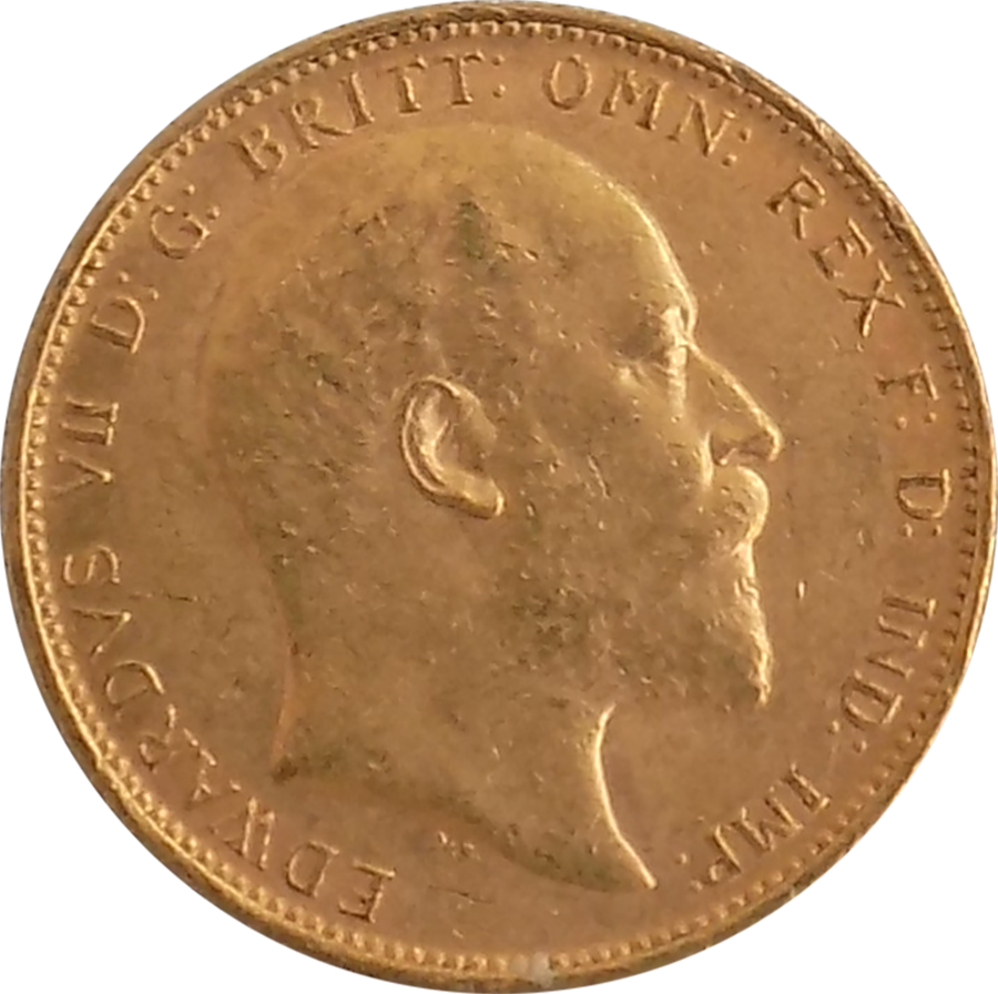 Pre-Owned 1904 Melbourne Mint Edward VII Full Sovereign Gold Coin