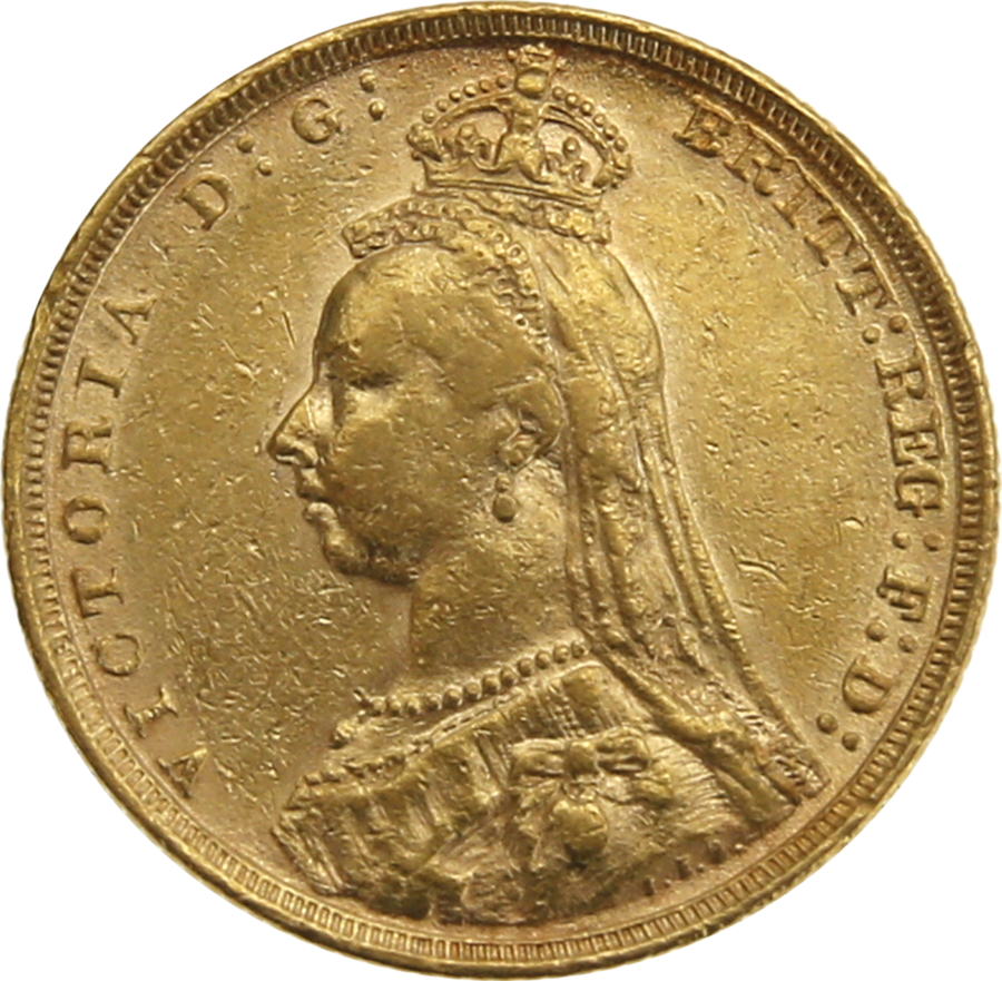 Pre-Owned 1891 Sydney Mint Victoria Jubilee Head Full Sovereign Gold Coin