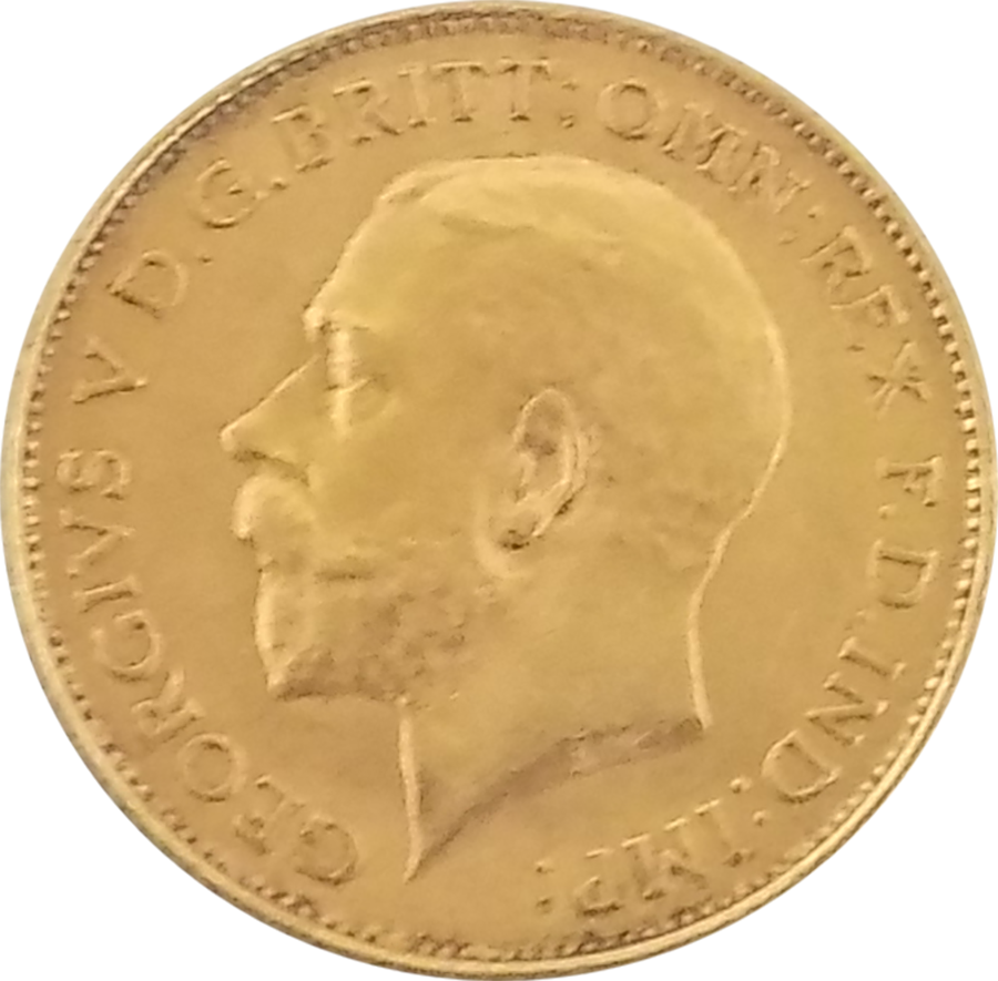 Pre-Owned 1926 UK George V Half Sovereign Gold Coin
