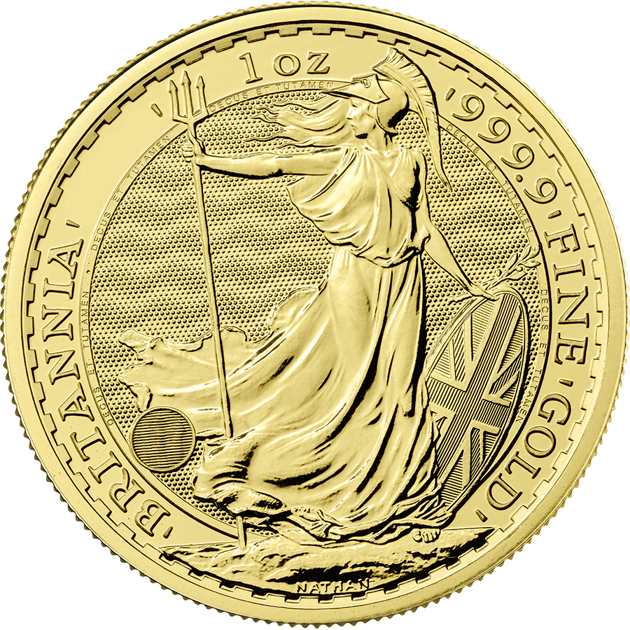 Pre-Owned Post 2012 UK Britannia 1oz Gold Coin - Mixed Dates (Image 1)
