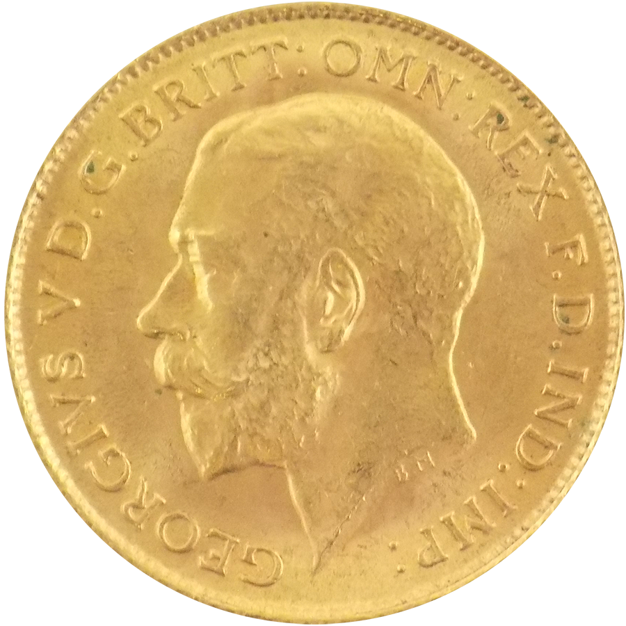 Pre-Owned 1914 UK George V Half Sovereign Gold Coin