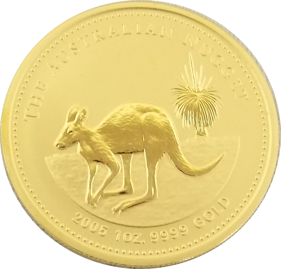 Pre-Owned 2005 Australian Nugget 1oz Gold Coin