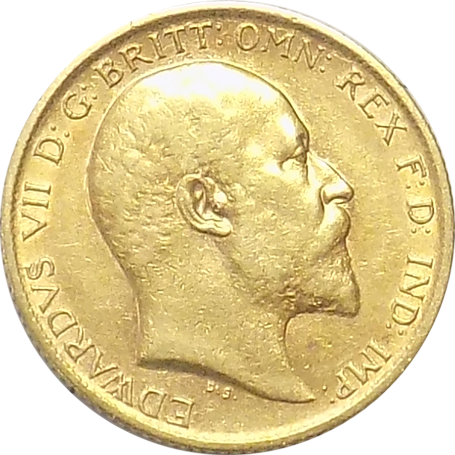 Pre-Owned 1904 UK Edward VII Half Sovereign Gold Coin