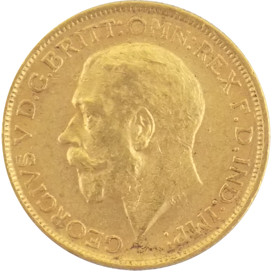 Pre-Owned 1913 Sydney Mint George V Full Sovereign Gold Coin