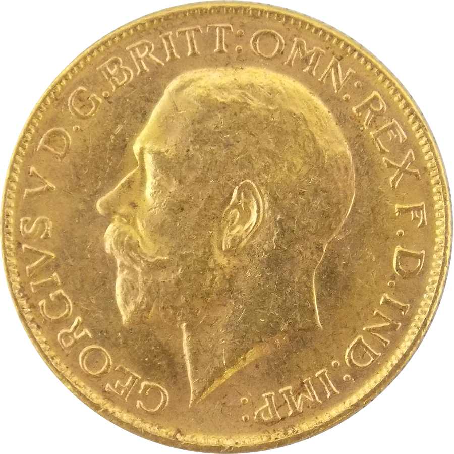 Pre-Owned 1914 Melbourne Mint George V Full Sovereign Gold Coin