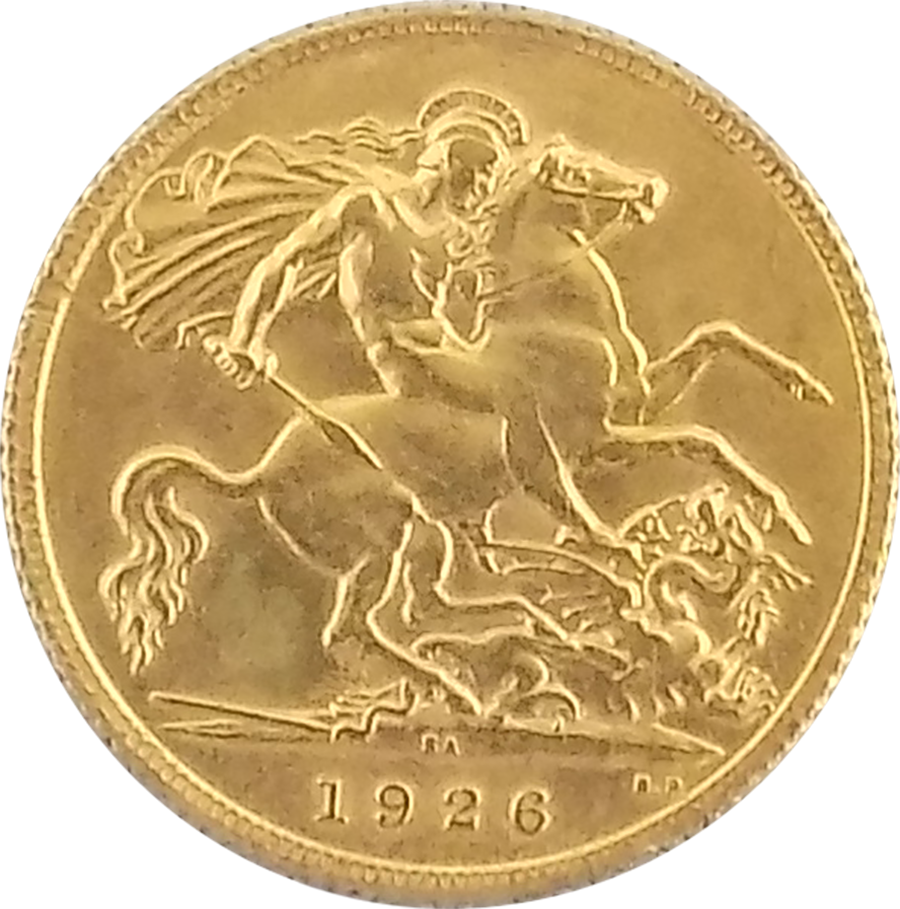 Buy 1926 South African George V Half Sovereign Gold Coin