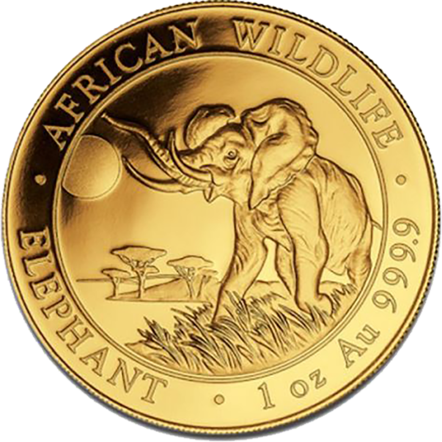 Pre-Owned 2016 Somalian Elephant 1oz Gold Coin
