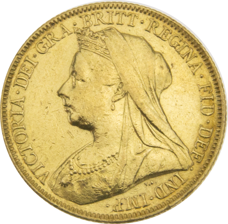 Pre-Owned 1898 Sydney Mint Victoria 'Veiled Head' Full Sovereign Gold Coin