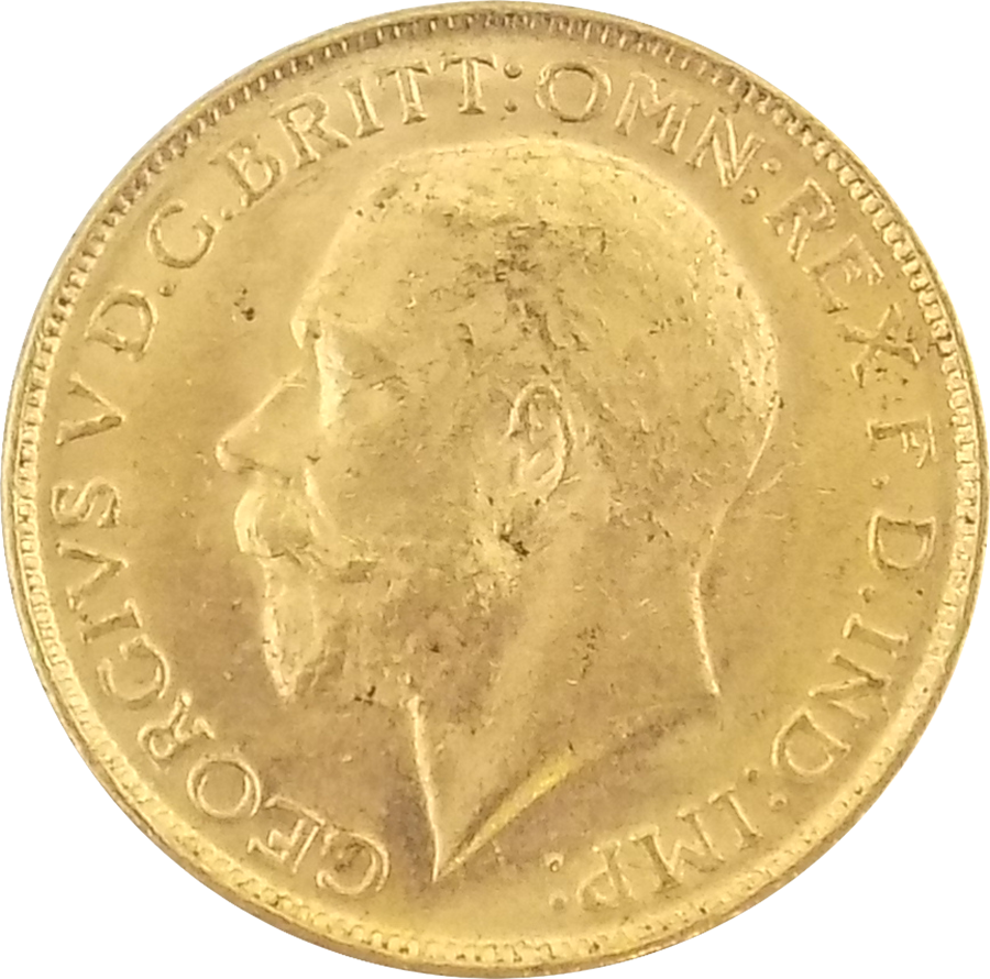 Pre-Owned 1915 Melbourne Mint George V Full Sovereign Gold Coin