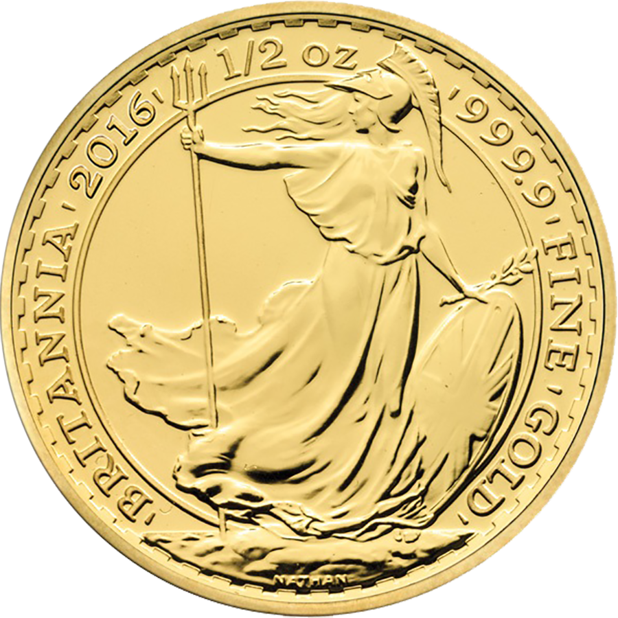 2016 UK Britannia 1/2oz Gold Coin