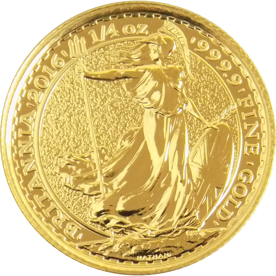 2016 UK Britannia 1/4oz Gold Coin