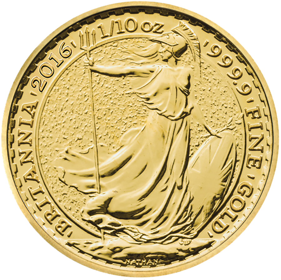 2016 UK Britannia 1/10oz Gold Coin