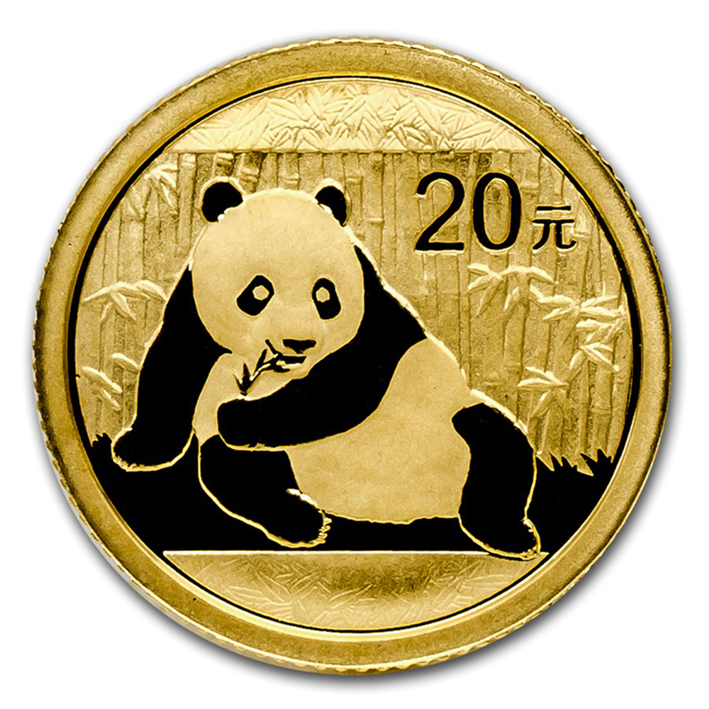Pre-Owned 2015 Chinese Panda 1/20oz Gold Coin