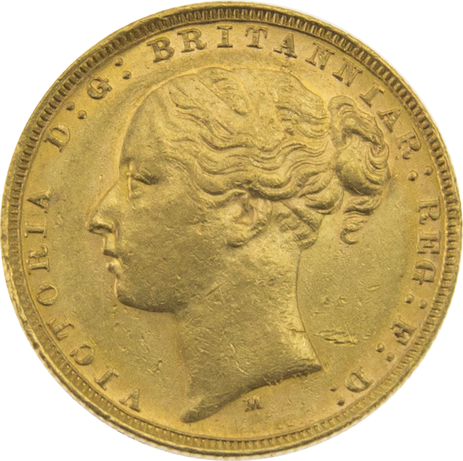 Pre-Owned 1878 Melbourne Mint Victoria Young Head Full Sovereign Gold Coin