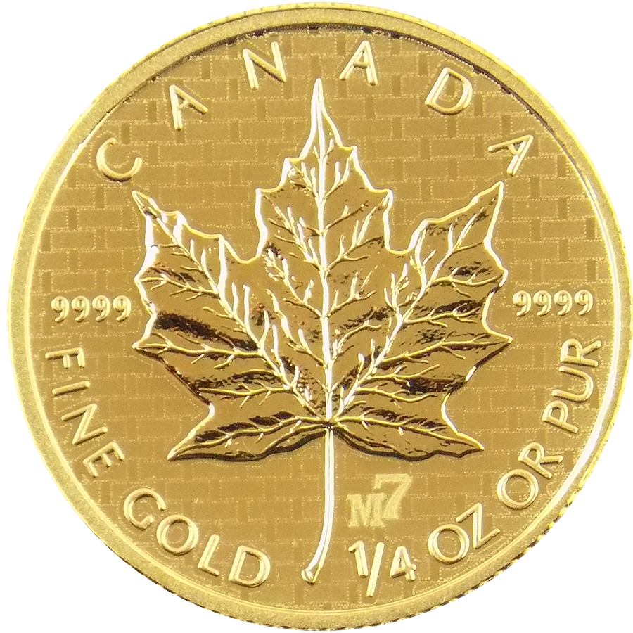 Pre-Owned 2005 Canadian Maple M7 Privy 1/4oz Gold Coin