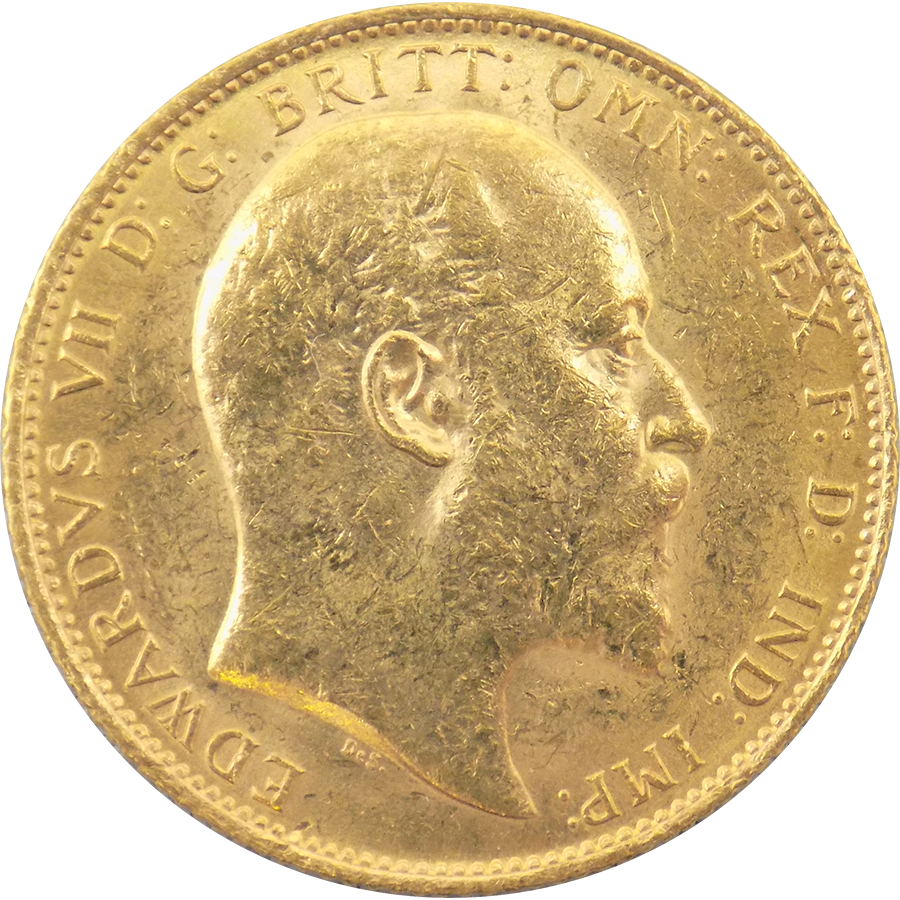 Pre-Owned 1910 Sydney Mint Edward VII Full Sovereign Gold Coin