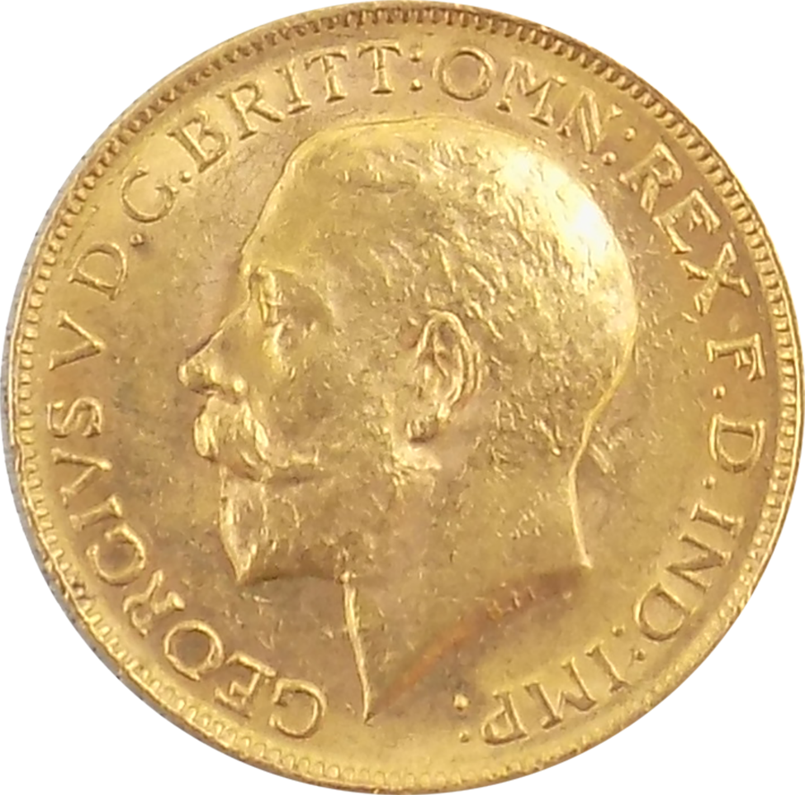 Pre-Owned 1915 Perth Mint George V Full Sovereign Gold Coin