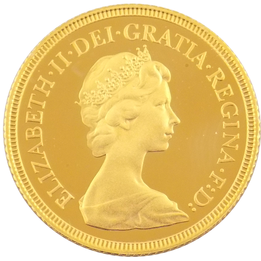 Pre-Owned 1980 UK Proof Design Full Sovereign Gold Coin