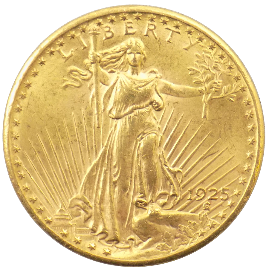 Pre-Owned 1925 USA St Gaudens Double Eagle $20 Gold Coin