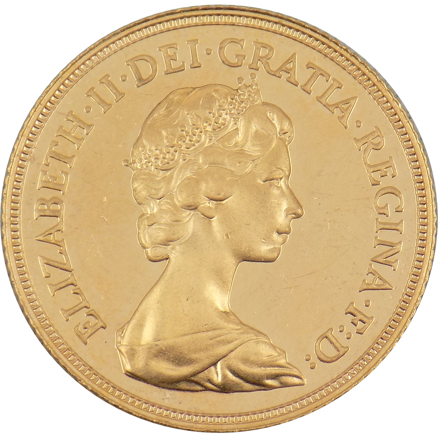 Pre-Owned 1983 UK Full Sovereign Proof Design Gold Coin