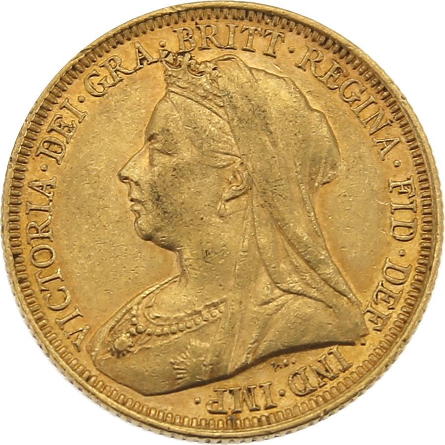 Pre-Owned 1894 Sydney Mint Victoria 'Veiled Head' Full Sovereign Gold Coin