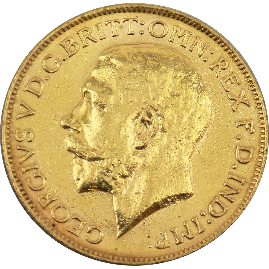 Pre-Owned 1916 Perth Mint Full Sovereign Gold Coin