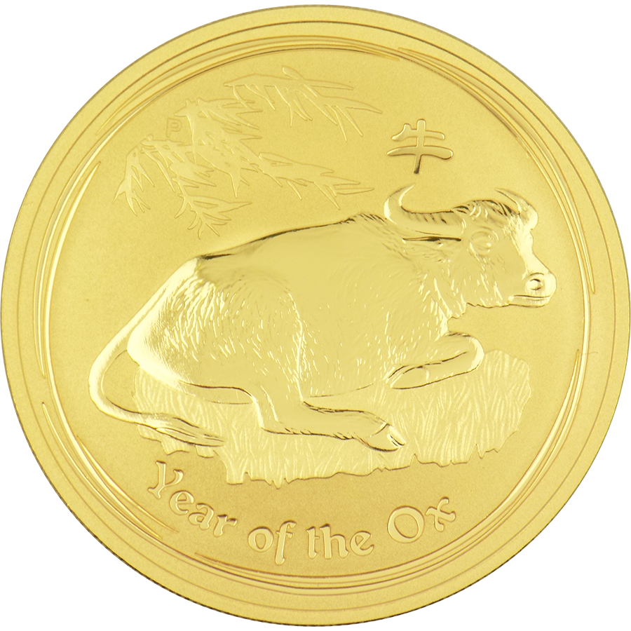 Pre-Owned 2009 Australian Lunar Ox 1oz Gold Coin