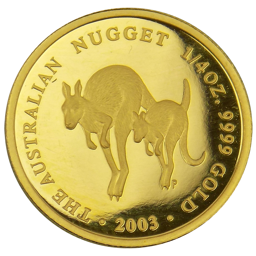Pre-Owned 2003 Australian Nugget 1/4oz Gold Coin