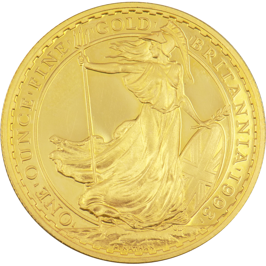 Pre-Owned 1993 UK Britannia Proof Design 1oz Gold Coin