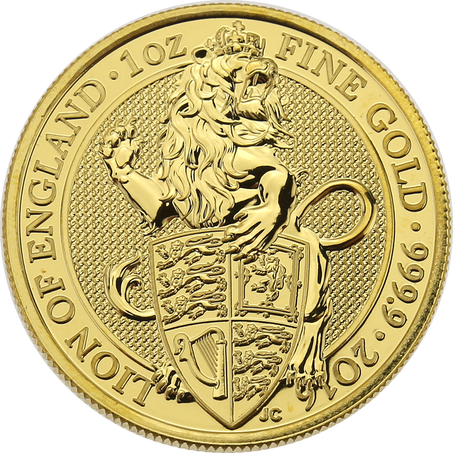 Pre-Owned 2016 UK Queen's Beasts The Lion 1oz Gold Coin